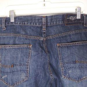 Calvin Klein Dark Wash Distressed Blue Jeans